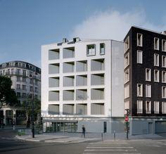 Immeuble à appartements primé à Paris -  Koramic Tuile Plate 301 Blanc Emaillé - Fresh architectures, FR – Paris