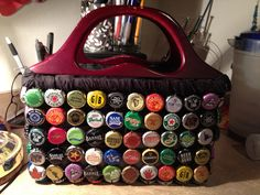 Homemade One of a kind!!! OOAK All unique interesting brews Beer Bottle cap purse. $98.00, via Etsy.
