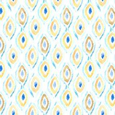 Summer Ikat Pattern fabric by tangerine-tane on Spoonflower - custom fabric