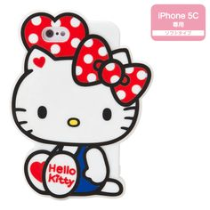 Hello Kitty Shaped iPhone 5C Cover Case Soft Type SANRIO JAPAN