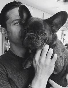 Tom Hardy and a Black French Bulldog.