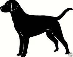 LAB LABRADOR Dog Outline Silhouette Decal Sticker