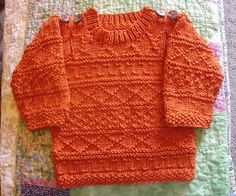 Stricken Easy Baby Aran sweater by Sarah Hoffman-KnitNet 2009 free pattern,
