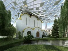 Cultural and Spiritual Russian Orthodox Center in Paris by Arch Group #architecture #religious-buildings
