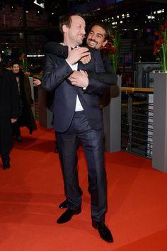 Pin for Later: 18 Gründe, warum Elyas M´Barek ein echter Traummann ist  Wotan Wilke Möhring und Elyas bei der Premiere von The Grand Budapest Hotel während der Berlinale im Februar 2014.