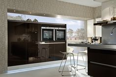 High Gloss Sepia Brown Acrylic Kitchens - High Gloss Acrylic Sepia Brown Kitchen - Discover more at www.lwk-home.com
