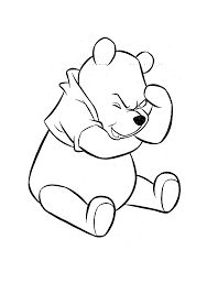 Billedresultat for sleeping winnie the pooh coloring page