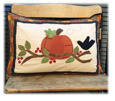 Pumpkin Patch finished pillow form by myreddoordesigns on Etsy