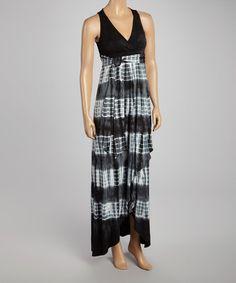 Another great find on #zulily! Black Tie-Dye Maxi Dress by American Buddha by Yogi #zulilyfinds