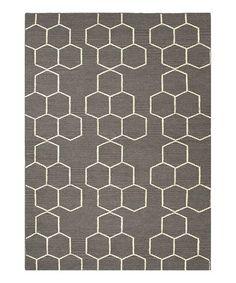 Gray & Black Wool Rug by Jaipur Rugs