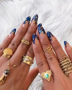 Here is the very best nail art inspiration now trending to inspire your next manicure . - Here is the very best nail art inspiration now trending to inspire your next manicure best - Cute Acrylic Nails, Cute Nails, Glitter Nails, Pretty Nails, Evil Eye Nails, Nail Techniques, Funky Nails, Crazy Nails, Crazy Nail Art