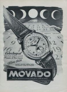 1951+Movado+Watch+Company+Movado+Celestograf+Advert+1951+Swiss+Ad+Suisse+Advert