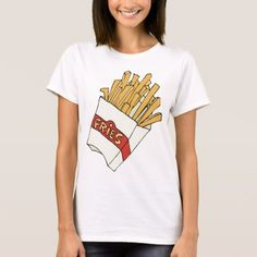 French Fries Junk Snack Food Cartoon Art T-Shirt - tap, personalize, buy right now! Food Cartoon, Cartoon Art, Snack Recipes, Snacks, Heart Balloons, Fish And Chips, Food Themes, French Fries, Wardrobe Staples