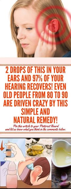 2 Drops of This In Your Ears and of Your Hearing Recovers! Even Old People From 80 to 90 Are Driven Crazy by This Simple and Natural Remedy - Solutions For Healthy Life Health Tips For Women, Health Advice, Health And Beauty, Health And Wellness, Health Care, Health Fitness, Wellness Fitness, Health Diet, Healthy Women