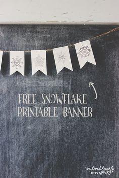 Free DIY Snowflake Mini Banner