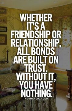 we have trust issues when we've been ''cheated''many times..
