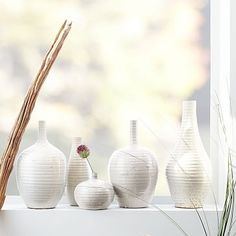 Ceramicist Vase Collection #westelm. short neck or teardrop
