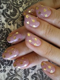 Starry-nailed. Love the nail shape & colors! I wonder what an accent nail would look like?