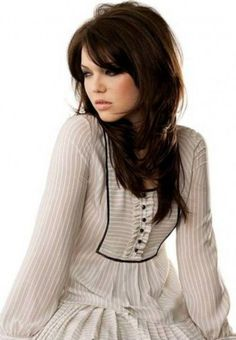 Mandy Moore Celeb Long Shag Hairstyles