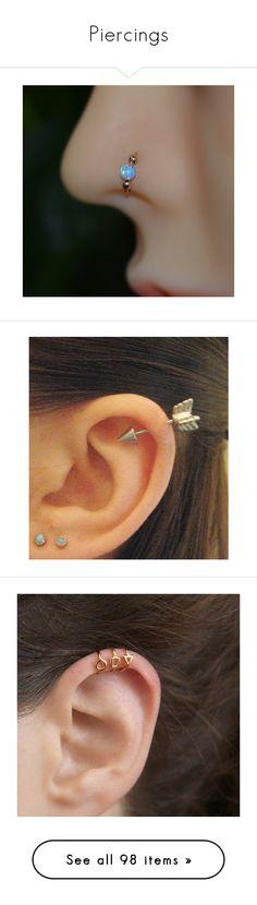 """Piercings"" by paigey-875 ❤ liked on Polyvore featuring jewelry, earrings, piercings, accessories, nose piercings, gold filled earrings, sterling silver jewelry, handcrafted sterling silver earrings, beaded jewelry and opal hoop earrings"