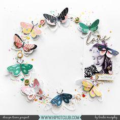 Butterfly Wreath - Lorilei Murphy  #hipkitclub #february2018 #butterfly