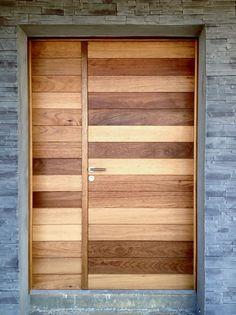 MAISON M - Porte d'entrée - Brut2bois, Menuiserie artisanale