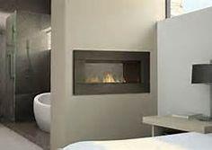 bathroom with see thru fireplace - Bing Images Corinne Madias @ KW  in MI