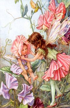 Love this vintage fairy artwork for a little girl's room!
