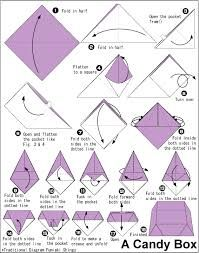 origami candy box - Google Search