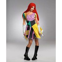 Womens Dlx Nightmare Before Christmas Sally Costume