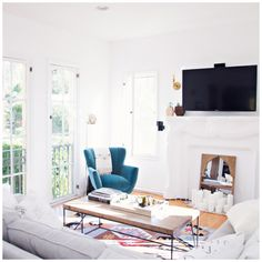 And with our newly decorated living room, our home is complete! I'm so excited to share what's probably the most important room of the house. Closet Office, Bedroom Office, Master Bedroom, West Elm, Couch Tray, Urban Outfitters, Style Me, Room Style, Crate And Barrel
