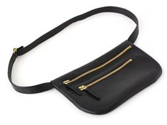 Fanny Pack Double Zipper Belt Bag Hip Bag Hip Pouch by alexbender Small Leather Bag, Leather Fanny Pack, Leather Belt Bag, Calf Leather, Leather Backpack, Hip Purse, Hip Bag, Leather Accessories, Fashion Bags