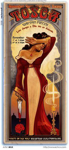 Vintage Italian Posters ~ #Italian #vintage #posters ~ Echo Chernik opera poster
