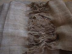 hemp cloth, backstrap woven in Nepal by cocoon_oharu, via Flickr