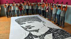 Amasya'nın Gümüşhacıköy ilçesindeki bir ilkokulun öğretmen ve öğrencileri, 23 Nisan Ulusal Egemenlik ve Çocuk Bayramı etkinlikleri kapsamında el izleriyle Atatürk portresi yaptı.   #Amasya #Atatürk #atatürk portresi #el #el izi #iziyle #Öğrenci #Öğrenciler #öğretmenlerden #portresi #ve