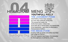 "Interpretation & Meaning of IChing - Hexagram 4: 蒙 ""Youthful Folly"" - Meng"