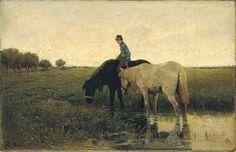 Anton Mauve, Watering Horses, 1871