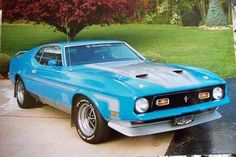 Blue 1971_ford_mustang_mach_one