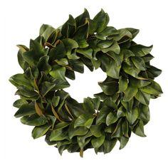Faux Magnolia Wreath II