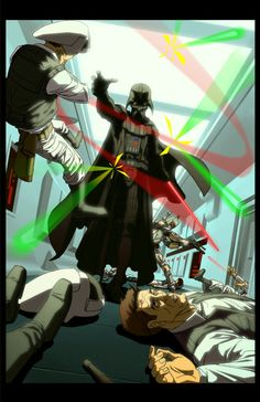 Darth Vader Rogue One ending scene awesomeness DAAAANGER ZONE plus Boba Fett ..... Star Wars by ~BillyBobDriwahl