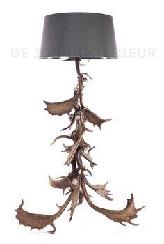 Lamp gemaakt van 4 koedoe hoorns geweilamp for Lamp gewei