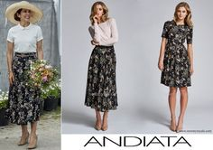 Andiata flower print maxi skirt