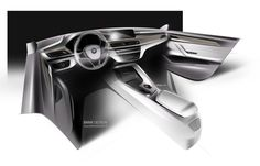 2016 BMW X1 - Interior Design Sketch - Car Body Design