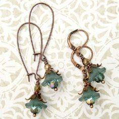 Petite Teal Green Matte Lucite Flower Earrings   Shop   Kaboodle Lucite Flower Earrings, Flower Jewelry, Diy Earrings, Beaded Jewelry, Jewellery, Jewelry Crafts, Jewelry Ideas, Teal Green, Vintage Flowers