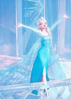Elsa in her ice castle