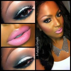 #ShareIG A close up look from last week I didn't post eyes: mac blanc type on lid, print and typographic in the crease. Makeup forever HD foundation. Mac loose powder. Mac dessert rose blush. Lips: cork lip liner, pink nouveau & snob lipstick. @Allison House! of Lashes Hollywood glam lashes #makeupshayla #houseoflashes