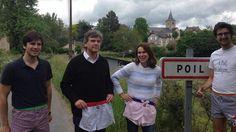 Arnaud Montebourg et Aurélie Filippetti, mannequins pour la marque bourguignonne Au Poil !