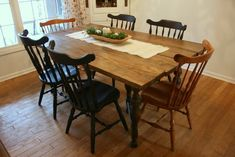 SPRAY IT PRETTY - SPRAY PAINTING DINING ROOM CHAIRS IN NAVY BLUE