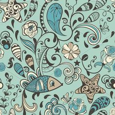 Vector Seamless Highly Detailed Abst. Patterns. $10.00