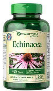Vitamin World Echinacea, 400mg, 200 Capsules Vitamin World, http://www.amazon.com/dp/B00EXA6WUK/ref=cm_sw_r_pi_dp_Es2qtb19858P89NN